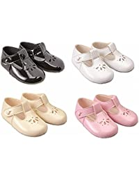 Baypods baby girls soft pram shoes by Early Days 0-3 months BLACK
