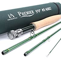 Maxcatch 3-12wt Medium-fast Action 4-Piece Premier Fly Rod-IM8 Carbon Blank for High Performance,with AA Cork Grip Hard Chromed Guides and Cordura Tube