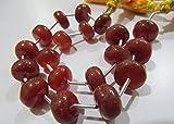 Liscio rosso calcedonio perline/Plain rondelle calcedonio 10A 12mm Dimensioni perline/venduto per filo lungo 22,9cm