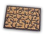 Fußmatte Kokosmatte Fußabtreter Türmatte Gummi Kokos Antik nostlgie Optik rechteckig Art Deco
