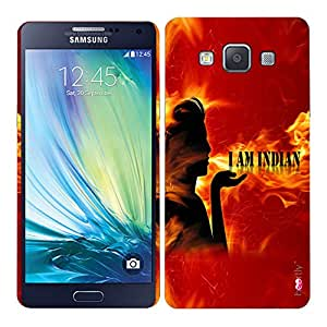 Heartly I am Indian Quote Printed Designer Thin Hard Bumper Back Case Cover For Samsung Galaxy A5 2015 SM-A500F - Fire Red