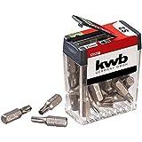 """Kwb T25-Bit dispenser - 25-delige bitset, speciaal voor torx-schroeven, 25 mm lengte, C 6.3 vorm en 1/4"""" diameter met zeskant"""