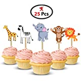 Party Propz Jungle Cup Cake Topper (Set of 25)