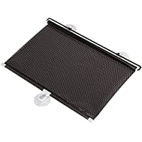 tonos de sol de coche - SODIAL(R)2 pieza negra cortina de sol retractil de enrollar de ventana de coche de UV / defensa (40 * 60cm)