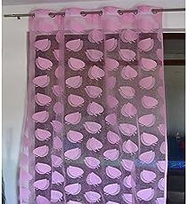 The Intellect Bazaar Polyester Tissue Net Eyelet Door Curtain