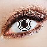 aricona Kontaktlinsen Farbige Kontaktlinse Black Turning   – Deckende Jahreslinsen für dunkle und helle Augenfarben ohne Stärke, Farblinsen für Karneval, Fasching, Motto-Partys und Halloween Kostüme