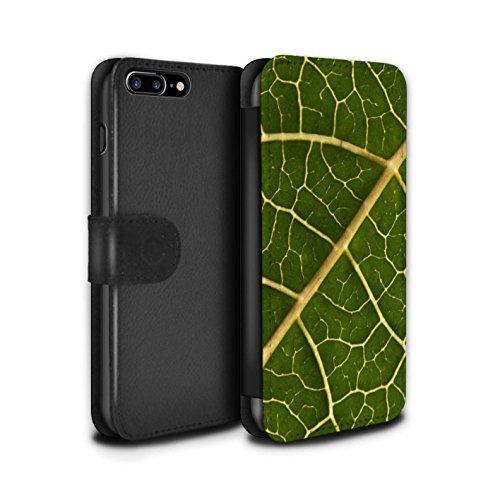 Stuff4 Coque/Etui/Housse Cuir PU Case/Cover pour Apple iPhone 7 Plus / Fleur Rouge Design / Campagne Colombie Collection Feuille Verte