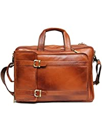 Leathercult.store 007 (Color Tan) 15 Inch Pure Leather Laptop Backpack Bag For Man And Woman