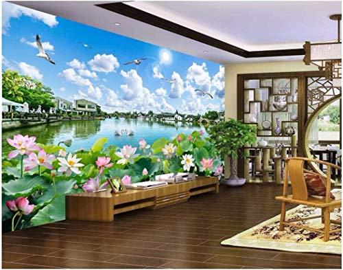 Carta Da Parati Fiori Di Loto : Carta da parati foto personalizzata d wall cloth cinese seta