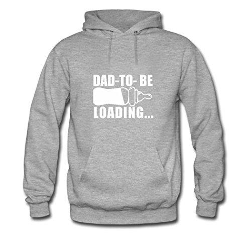 weileDIY Dad 2018 Loading DIY Custom Women's Printed Hoodie Sweatshirt Gray_B