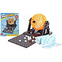 Klassisches-Bingo-Ballrad-Draht-Kfig-Lottospiel-Set-mit-Kartenmarkierer Klassisches Bingo Ballrad Draht Käfig Lottospiel Set mit Kartenmarkierer -