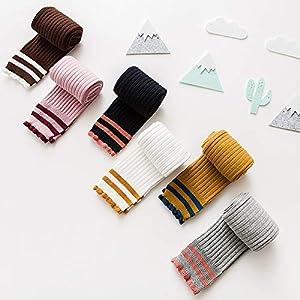 RUOHAN Kinder Socken 5 Paar Strick Kinderstrumpfhosen Herbst Und Winter Koreanische Baumwolle Leggings Für Mädchen Können Sich Den Ball Kindersocken Nicht Leisten