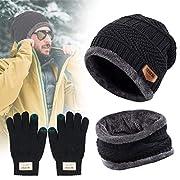 TedGem Cappello Uomo Invernali in Maglia con Sciarpa 3023f0610013