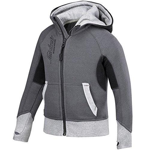 snickers-75045804104-sweat-a-casquetteuche-junior-taille-98-104-acier-gris-noir
