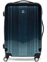 FERGÉ Maleta Grande CANNES - ABS & PC azul - trolley funda rígida - XL - equipaje de 28¨ con 4 ruedas (360) para (51 x 77 x 30 cm)