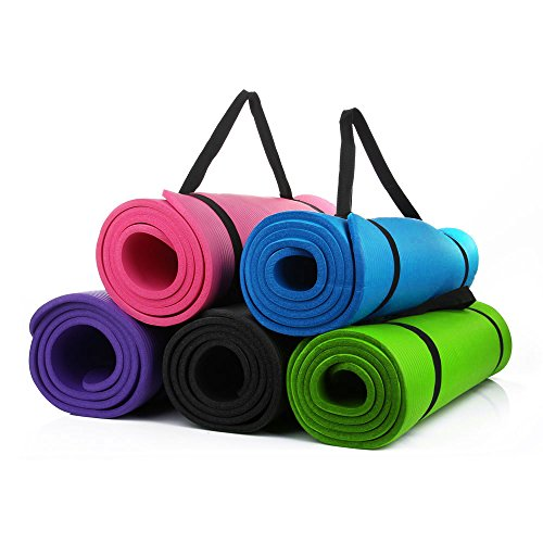 Masione® All-purpose 10mm Thick High Density Anti-tear Exercise Yoga Mat 72x24