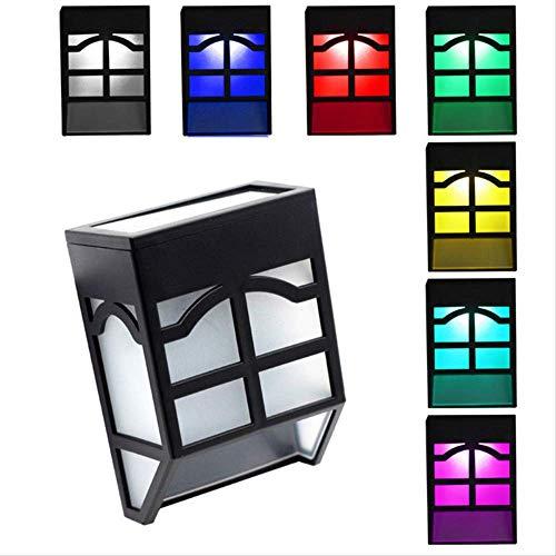 2 Stücke Solar Lampe Laterne Outdoor Zaun Laterne Garten Abdichtung Wohnlandschaft Garten Straßenlaterne Treppe Wandleuchte LED-Licht