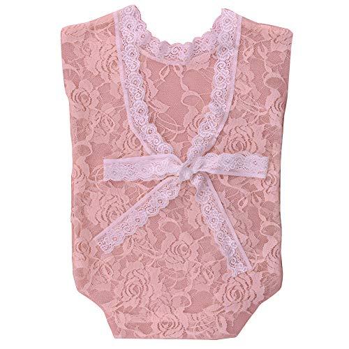 Für Neugeborene Kostüm Niedliche - iSpchen Baby Neugeborenen Party Kostüm Niedliche Spitze Bogen Outfits für Fotografie Requisiten Strampler Geburtstagsgeschenk Hell-Pink