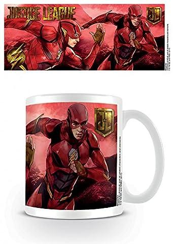 Set: Justice League, Movie Flash Action Tasse À Café Mug (9x8 cm) + 1x Sticker Surprise 1art1®