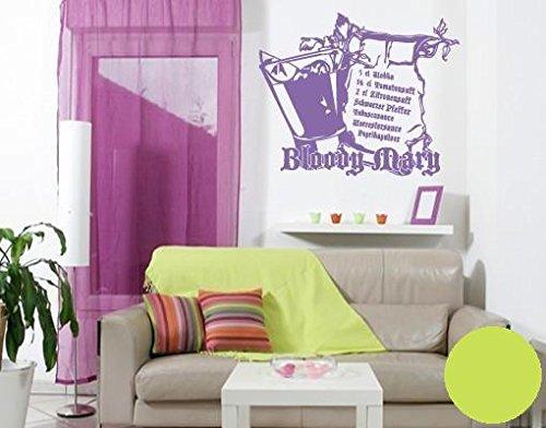 Preisvergleich Produktbild Wandtattoo Bloody Mary B x H: 120cm x 98cm Farbe: lindgrün von Klebefieber®