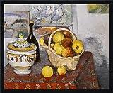 Tableau avec cadre: Paul Cézanne,'Nature morte à la soupière', 71 x 57 - Bois Fortuna L: Noir mate de soie