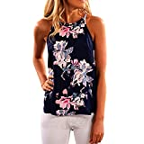 Tonsee Damen Westen, Sleeveless Blume Printed Tank Top Casual Bluse Vest Camis T-Shirt