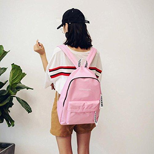 Imagen de  escolares,smartlady mujer juveniles niña moda letra imprimir estilo lienzo bolsas escolares para deporte viaje rosa  alternativa