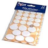 homeXpert - Pegatinas de fieltro para muebles (40 unidades, protector, autoadhesivo), color blanco o marrón a elegir