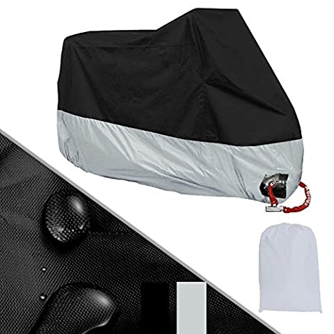 GS-Directly 4XL Motorcycle Cover Shelter, Breathable Water Resistent Waterproof Rain UV Protective Motorbike Cover, Storage bag For Scooter Bmw Yamaha Honda Suzuki Outdoor Indoor, Size 116