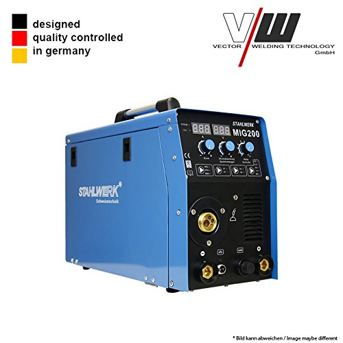 STAHLWERK Digital Schweißgerät DC MIG MAG 200 Inverter Lift WIG ARC MMA STICK Elektrode 5KG