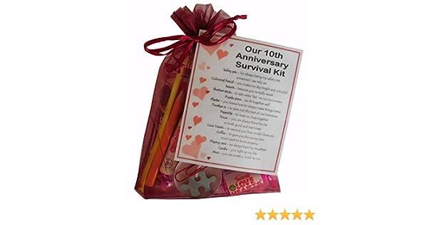 Novelty 10th wedding anniversary gift 10th Anniversary Survival Kit Gift