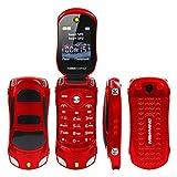 Wokee Großtasten Mobiltelefon, Seniorenhandy Handy Auto Modell Taschenlampe Dual Sim Karten Mp3 Mp4 FM Radio Recorder Flip Handy-Klapphandy mit Kamera, Notruftaste, sprechender