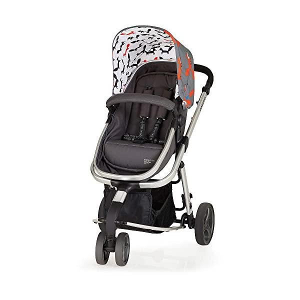 Cosatto Hold Mix Carseat Mister Fox Cosatto Includes - Pram & Pushchair, Hold Car seat, Adaptors, Apron and Raincover Suitable from birth up to 15kg, One unit transforms from newborn pram mode into pushchair mode. Space saving. No need to buy separates. 'In or out' facing pushchair seat lets them bond with you or enjoy the view. 5
