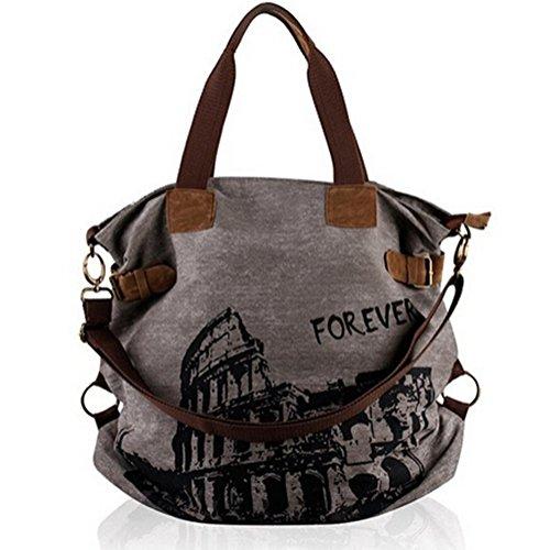 Imagen de aidonger  bolso  de lona para mujer gris gris alternativa