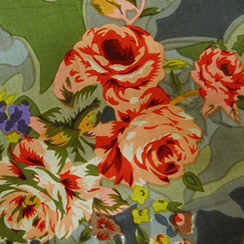 Grau-Blumendruck Baumwollgewebe Kleid herstellen Nähen Stoff Von Per Yard -