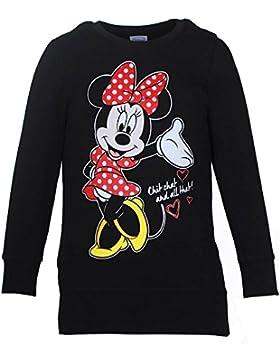 DISNEY Niñas Minnie Mouse Sudadera, negro