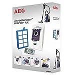 AEG AUSK9 Vorteil-Set für UltraSilencer, USgreen, USeco, VX7, 4 s-bag 201 classic long performance Staubsaugerbeutel, Allergy Plus Filter, Motorfilter, s-fresh