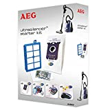 AEG AUSK9 Vorteil-Set für UltraSilencer, USgreen, USeco, VX7, 4 s-bag 201 classic long performance Staubsaugerbeutel, Allergy Plus Filter, Motorfilter, s-fresh