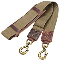 Replacement Padded Luggage Shoulder Strap With Huge Metal Hooks For Travel Weekender Bag #J-002 (Army Green)