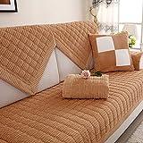 YHviking Aus Stoff Sofa Abdeckung,Europäische Stil Weich Slip Sofa schonbezug,Sitz Sofaschonbezug Für Wohnzimmer Home Dekor 1-teilige-braun 90x70cm(35x28inch)