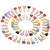 LIZHIGE Clips Photo en Bois,100Pcs Pince à Linge en Bois,Pinces à Linge colorées Mini Pinces pour décor Photo Craft DIY Clip