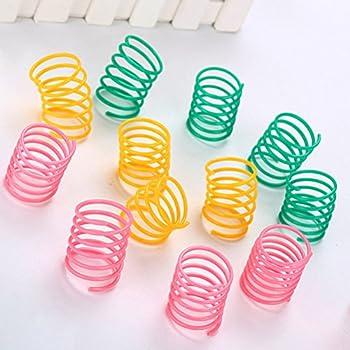 POPETPOP 20 Pcs Animal Coloré Ressorts Chat Jouets Chaton Chaton en Plastique Slinky Jouets pour Chat Chaton Animaux (Couleur Aléatoire)
