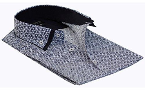 Daniel Rosso Maglietta a maniche corte Slim Fit camicia formale Business causale Wear S–4x L (Dr 605) Diamonds (Grey)