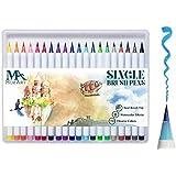 Pinselstift-Set – 20 Farben – weiche flexible Echtpinsel-Spitze, langlebig, Wasserfarben-Effekt, Aquarell – Ideal für Malbücher, Manga, Comic, Kalligrafie, duale Stärke, MozArt Supplies