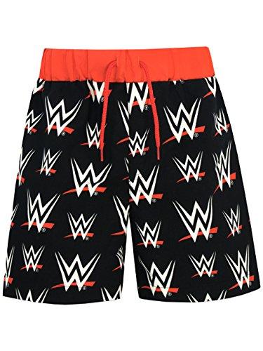 WWE Jungen World Wrestling Entertainment Badeshorts Schwarz 152