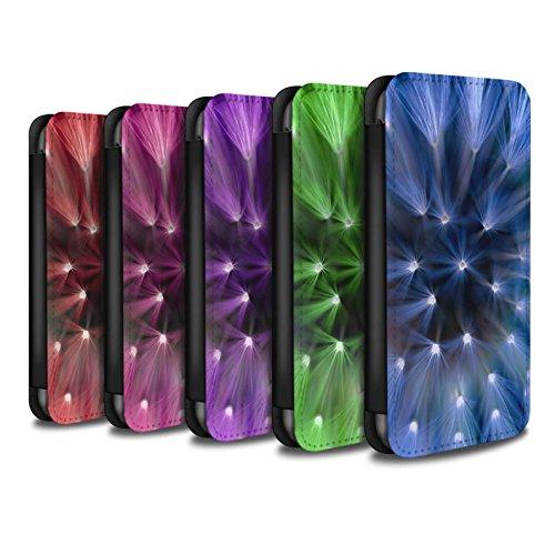 Stuff4 Coque/Etui/Housse Cuir PU Case/Cover pour Apple iPhone 5C / Pourpre Design / Couleur/Lumière Fleur Collection Multipack