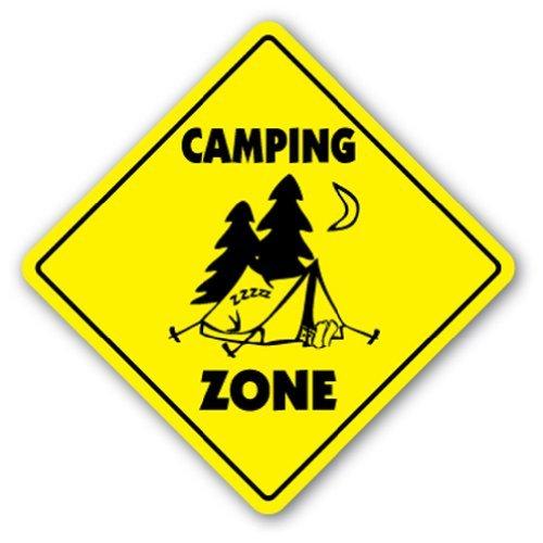 Crossing Sign Zone Xing |-| 30,5cm Hoch Zelt Fire Camp Story Sagen Spiele Park ()