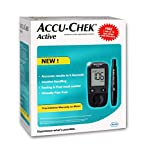 Accu-Chek Active Blood Glucose Meter Kit, Vial of 10 strips free (Multicolor)