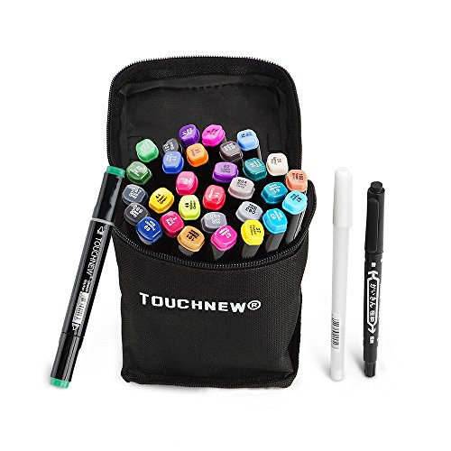 30 Farben TOUCHNEW Double-Ended Art Marker mit feiner und breiter Spitze, perfekt für Illustration, Sketch Comics, Cartooning, Anime-Lightwish (30 Farben, - Im Halloween-aktivitäten Spaß Kindergarten