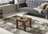 WOHNLING Couchtisch Massiv-Holz Sheesham 45 cm breit Wohnzimmer-Tisch Design dunkel-braun Landhaus-Stil Beistelltisch Natur-Produkt Wohnzimmermöbel Unikat modern Massivholzmöbel Echtholz rechteckig - 2